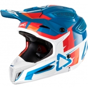 2018 Leatt GPX 5.5 V10 Helmet - Blue White