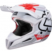 2018 Leatt GPX 5.5 V15 Helmet - White Red