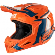 2018 Leatt GPX 4.5 V20 Helmet - Orange Denim Blue