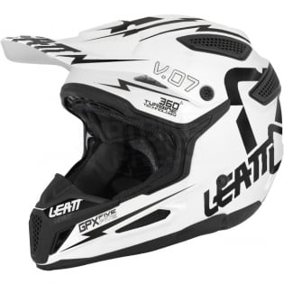2018 Leatt Kids GPX 5.5 V7 Helmet - White Black