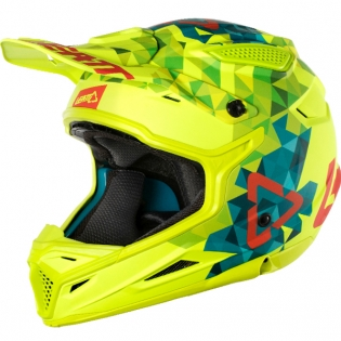 2018 Leatt Kids GPX 4.5 V22 Helmet - Lime Teal