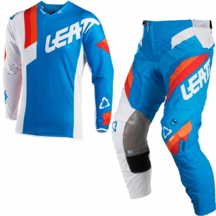 2018 Leatt GPX 5.5 Motocross Kit Combo - Blue White