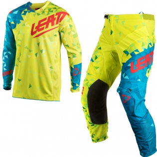 2018 Leatt GPX 4.5 Lite Motocross Kit Combo - Lime Teal Blue