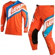 2018 Leatt GPX 4.5 Lite Motocross Kit Combo - Orange Denim Blue