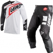 2018 Leatt GPX 4.5 X-Flow Motocross Kit Combo - White Black