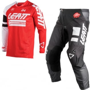 2018 Leatt GPX 4.5 X-Flow Motocross Kit Combo - Red White