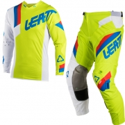 2018 Leatt Kids GPX 3.5 Motocross Kit Combo - Lime White