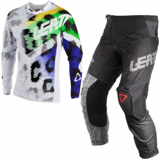 2018 Leatt GPX 5.5 Motocross Kit Combo - Leopard Black Brushed