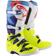 Alpinestars Tech 7 Boots - Flo Yellow White Blue Cyan
