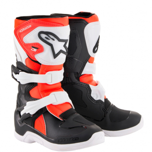 Alpinestars Kids Boots Tech 3S - Black White Flo Red