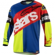 2018 Alpinestars Racer Jersey - Flagship Red Flo Yellow Blue