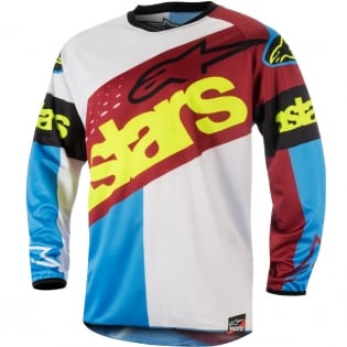 2018 Alpinestars Racer Jersey - Flagship Rio Red Aqua White