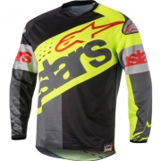 2018 Alpinestars Racer Jersey - Flagship Flo Yellow Black Anthracite