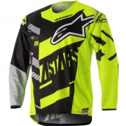 2018 Alpinestars Techstar Jersey - Screamer Black Flo Yellow Grey
