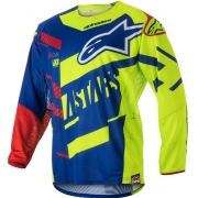 2018 Alpinestars Techstar Jersey - Screamer Blue Flo Yellow Red
