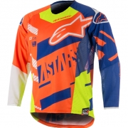 2018 Alpinestars Techstar Jersey - Screamer Orange Blue Flo Yellow