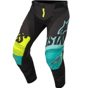 2018 Alpinestars Techstar Pants - Screamer Black Teal Flo Yellow