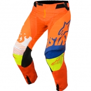 2018 Alpinestars Techstar Pants - Screamer Orange Blue Flo Yellow