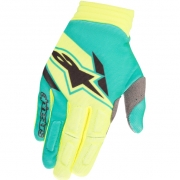 2018 Alpinestars Aviator Gloves - Flo Yellow Teal