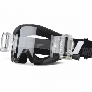100% Strata Kids Mud Goggles - Goliath Black SVS Clear Lens