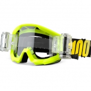 100% Strata Kids Mud Goggles - Neon Yellow SVS Clear Lens