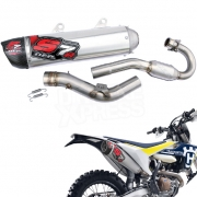 DEP S7R Carbon Exhaust System - Husqvarna FE 350 2014-Current
