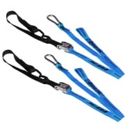 Race FX Race Series 1.0 Tie Downs - Blue Black (Pair)