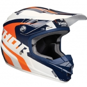 2018 Thor Kids Sector Helmet - Ricochet White Blue Orange
