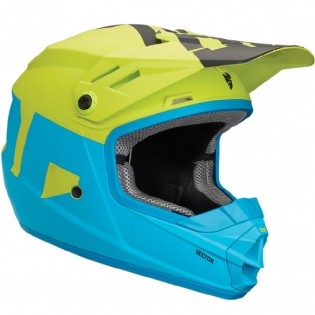 2018 Thor Kids Sector Helmet - Level Electric Blue Lime