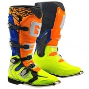 Gaerne G React Boots - Orange Blue Fluo Yellow