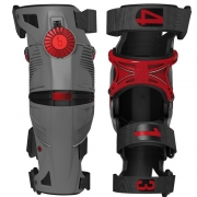 2018 Mobius X8 Knee Braces - Grey Crimson