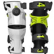 2018 Mobius X8 Knee Braces - White Acid Yellow