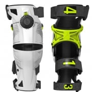 2018 Mobius X8 Kids Knee Braces - White Acid Yellow