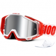 100% Racecraft Plus Goggles - Bilal Mirror Silver Lens