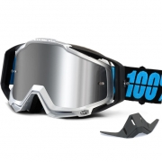 100% Racecraft Plus Goggles - Daffed Mirror Silver Lens
