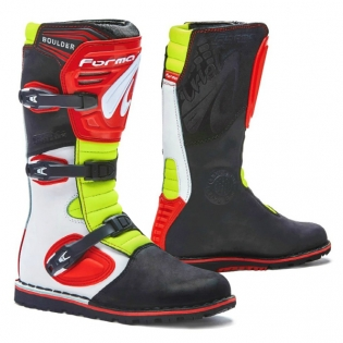 Forma Boulder Trials Boots - White Red Flo Yellow