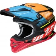 2018 Shoei VFX-WR Helmet - Zinger Blue Orange Red TC10