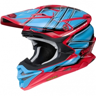 2018 Shoei VFX-WR Helmet - Glaive Red TC1