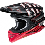 2018 Shoei VFX-WR Helmet - Grant3 Black Red TC1
