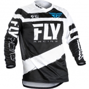 2018 Fly Racing F16 Kids Jersey - Black White