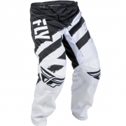 2018 Fly Racing F16 Kids Pants - Black White