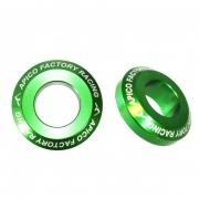 Apico Aluminium Pro Wheel Spacers - Rear Kawasaki Green