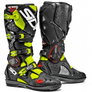 Sidi Crossfire 2 SRS Motocross Boots - Fluo Yellow Black