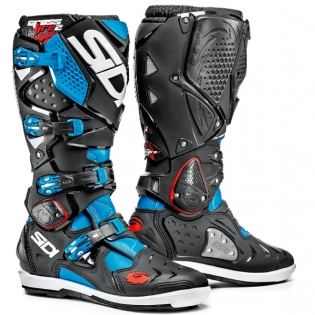 Sidi Crossfire 2 SRS Motocross Boots - Light Blue Black
