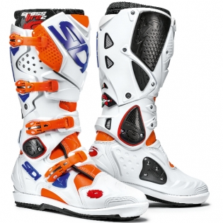Sidi Crossfire 2 SRS Motocross Boots - Orange Fluo White