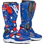 Sidi Crossfire 3 SRS Motocross Boots - White Blue Red Fluo
