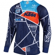 Troy Lee Designs SE Air Jersey - Metric Team Navy Orange