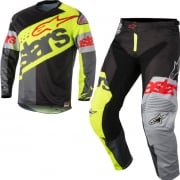 2018 Alpinestars Racer Kit Combo - Flagship Flo Yellow Black Anth