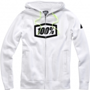 100% Syndicate Zip Up Hoodie - White