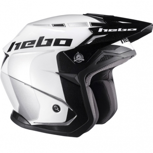 Hebo Zone 5 Polycarb Trials Helmet - Like White